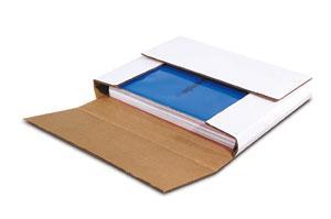 White Multi-Depth Corrugated Bookfolds image