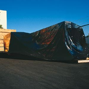 Heavy Duty Black Poly Sheeting, 6 MIL image