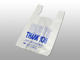 """Thank You"" Pre-printed T-Shirt Bags image"